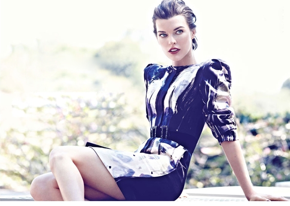 Milla Jovovich,Max Abadian,fille,girl, week-end, mode, éditorial, editorial, fashion photographer, fashion, colors, usa, sexy, modeling, summer, spring, printemps, été, luxe, luxury, portrait, glamour, mannequin,actrice,blue eyes,lovely,gorgeous,dream,look,dress,