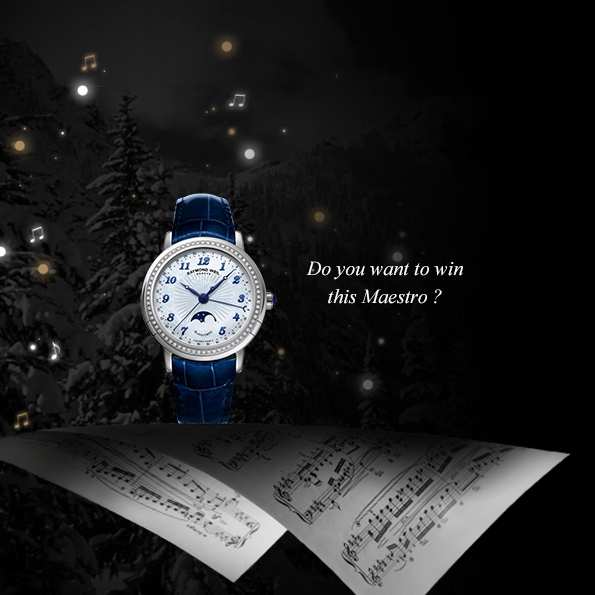 raymond weil,precision is my inspiration,horlogerie,horology,montres,montre,watch,watches,suisse,genève,switzerland,watch maker,manufacture,concours,noël,contest,maestro,freelancer,jasmine,neomia,tango,modèles,models