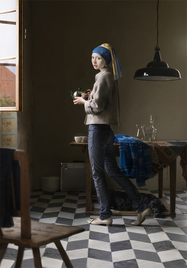 dorothee golz,peinture,digitale,digital,painting,johannes vermeer,arts,project,photoshop,fashion,mode,renaissance,hollandais,baroque,leonard de vinci,florence,social,photographie,photogrraphy,pictura