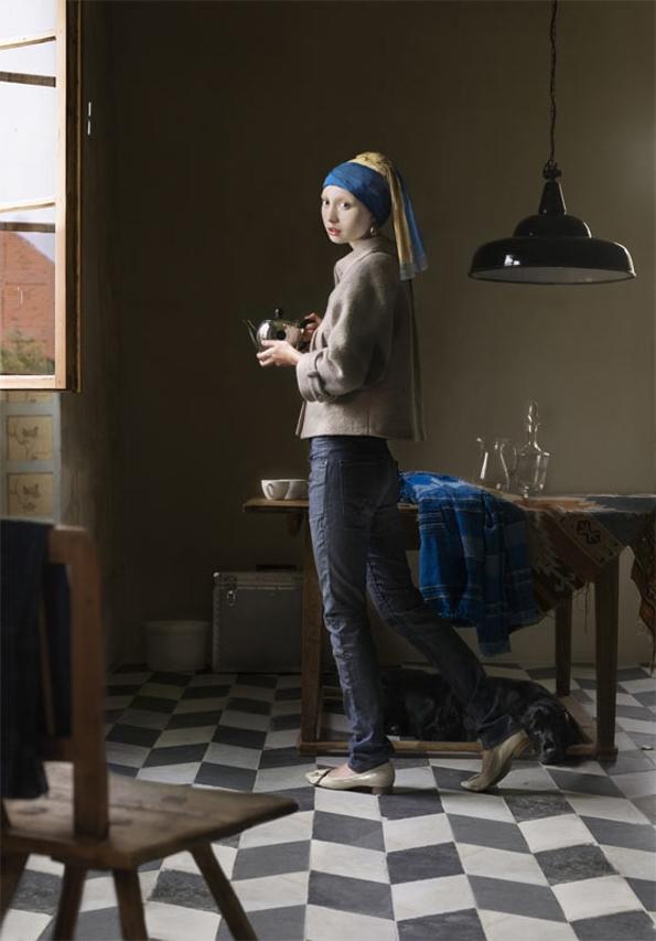dorothee golz,peinture,digitale,digital,painting,johannes vermeer,arts,project,photoshop,fashion,mode,renaissance,hollandais,baroque,leonard de vinci,florence,social,photographie,photogrraphy,pictura