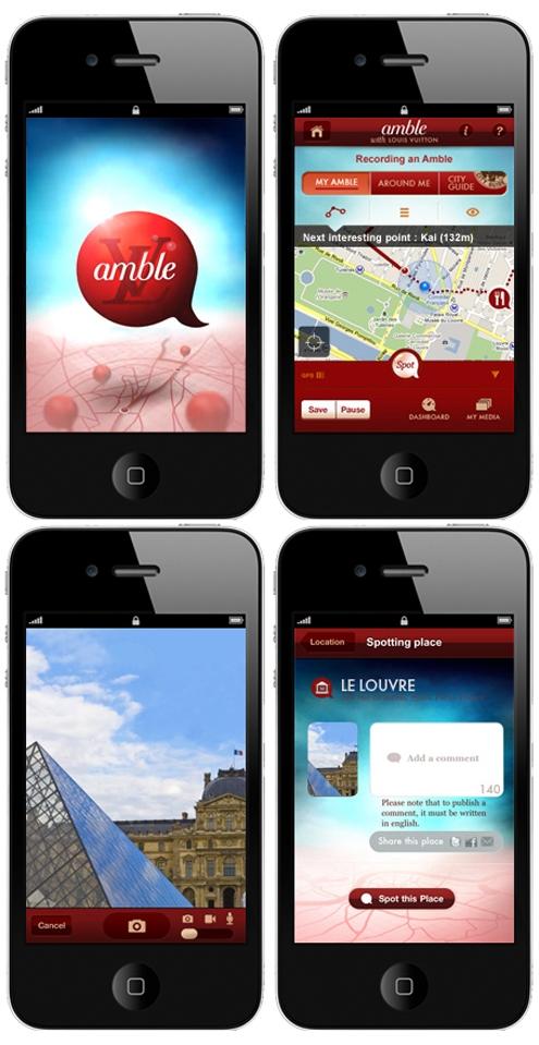 louis vuitton,amble,apple,apps,application,arts,travel,digital,paris,french,luxe,fashion,culture