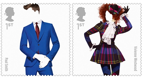 fashion,stamps,timbre,timbres,mode,royail air mail,royal, mail,service,Paul Smith, Westwood, Alexander McQueen,london,fashion,londres