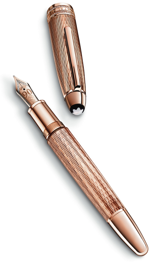 montblanc,stylo,fountain pen,pen,anniversary,anniversaire,90 ans,1924,meisterstück,stylo plume,luxe,luxury,mode,fashion,accessoires,accessories,accessory,accessoire,montre,watch,maroquinerie,leather goods,édition limitée,#meisterstuck90years