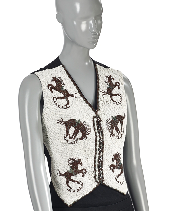 Schiaparelli intricately beaded waistcoat with 'Bucking Bronco' beadwork(estimate €10,000-12,000 £9,000-.jpg