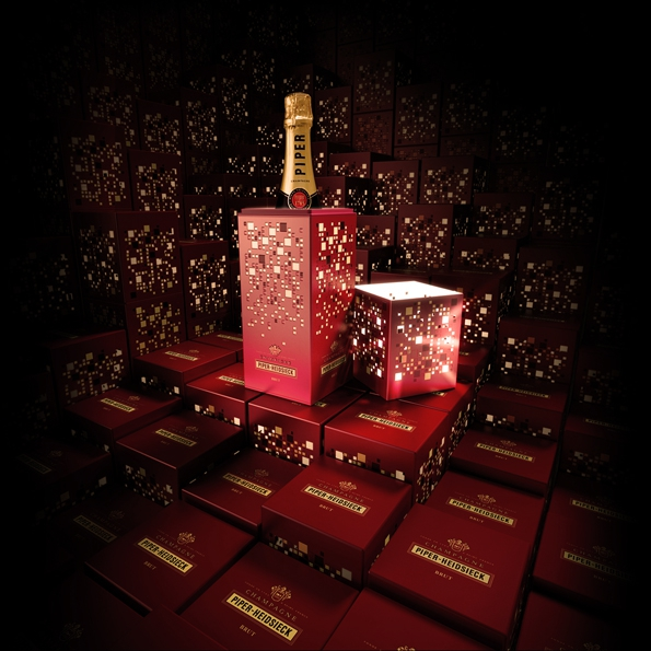 piper heidsieck,piper,heidsieck,champagne,champaign,lightbox,light,box,coffret,prestige,luxe,luxury,art de vivre,lifestyle,design,architecture,jacques ferrier,photophore,lumières,concept,régis camus,chef de caves,caves,reims,maison champenoise,la champagne,cuvée brut,rosé sauvage,cuvée sublime