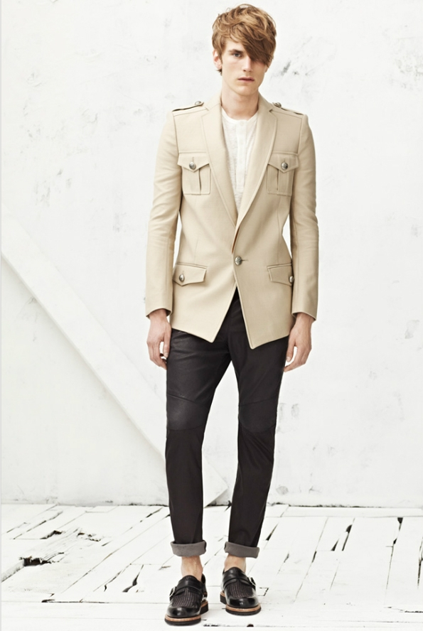 balmain,fashion,mode,men,homme,printemps,spring,t,summer,2013,dandy,olivier rousteing,christophe decarnin,karl lagerfeld,oscar de la renta,luxe,luxury,pierre balmain,paris,france,french brand,marque,tendances,trends,caban,vestes,manteaux,costumes,suit,chaussures,accessoires,accessories,accessory,shoes,blazer,masculin,fminin