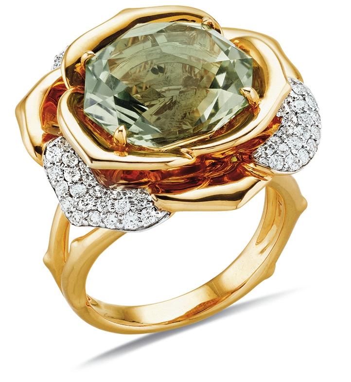 Gringoire Joaillier - ROSE - Bague Quartz Vert et diamants - BC2318QV-BTS.jpg