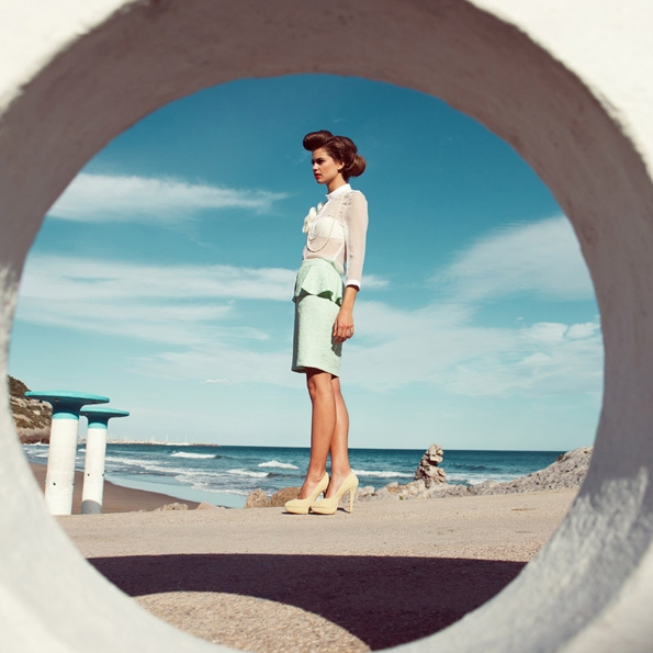 Lauren Auerbach,Andrea D'Aquinofashion, editorial, photographer, sexy, modeling, summer, spring, printemps, été, blond, photographe, mode, luxe, luxury, swimwear, maillot de bain, black, white,couleur,couleurs,color,colors,blue,, portrait, sexy, glamour,sexy,mer,sea,ocean