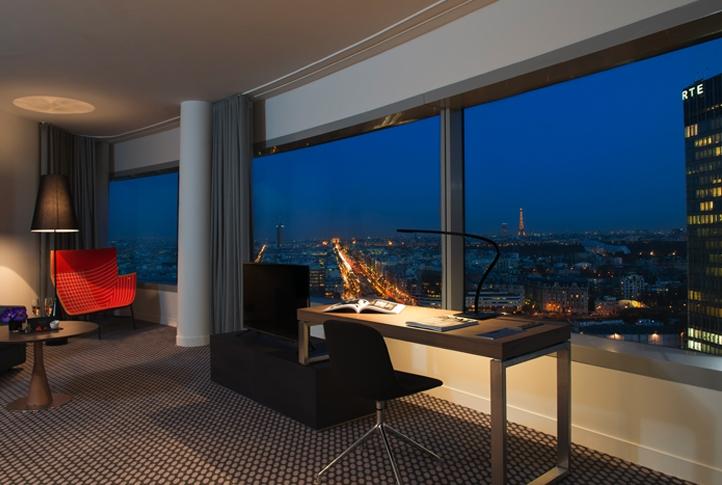 l h tel melia paris la d fense d couvrir l 39 horizon parisien soblacktie blog magazine. Black Bedroom Furniture Sets. Home Design Ideas