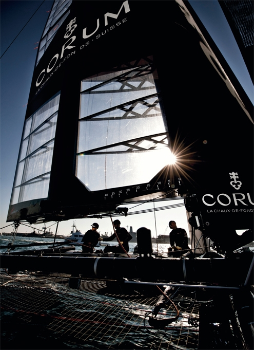 corum,watches,watch,montres,montre,luxe,luxury,suisse,energy team,coupe de l'america,america's cup,admiral's cup 42 annual calendar,partenaire,sponsort,loïc peyron,bruno peyron,syndicat,français,équipe,chaux de fonds,venise,méditerranée,mer adriatique