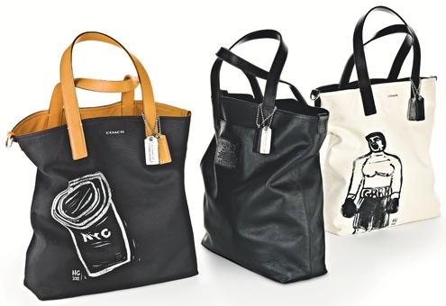 Tote (Black & Aged Vachetta) - Style 70612; Hugo Guinness Boxer Reversible Tote (Natural & Black) - Style 70611.jpg