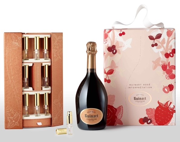 ruinart,coffret,interprtation,brut ros,cavistes,nol,limited,edition,champagne,champain,luxe,luxury,flavor,perfum,saveur,parfum,senteur,nologie,oenologie,lifestyle,millsime,reims,maison de champagne,cpage,chardonnay,iff,fabricant