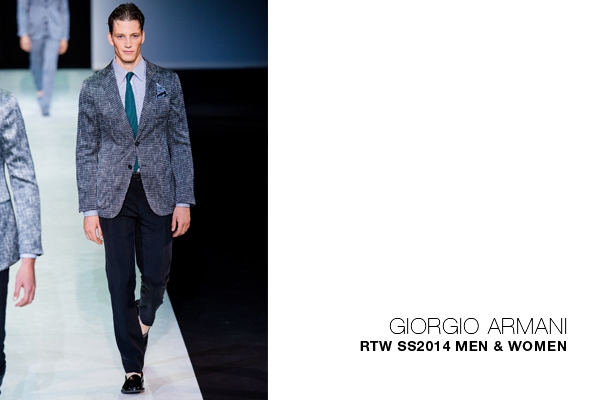 armani,giorgio armani,emporio armani,armani jeans,fashion,mode,collection,creator,élégance,italy,milan,florence,luxe,ready to wear,prêt à porter,suit,costume,luxury,trends,tendances,italie,italia,blog,blogueur,fashion show,défilé,hommes,man,femme,femmes,woman,women,printemps,été,spring,summer,2014