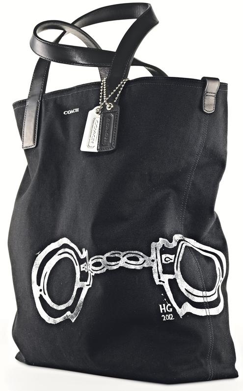 Hugo Guinness Handcuff Reversible Tote (Black & Black, Black & Natural) - Style 70610.jpg
