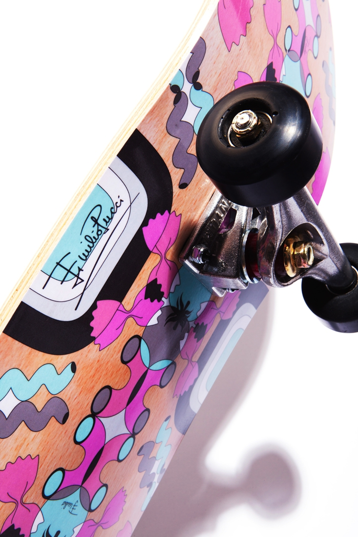 pucci,emilio pucci,skateboard,skater,skaters,luxe,luxury,lifestyle,ecal,projet,édition limitée,limited edition